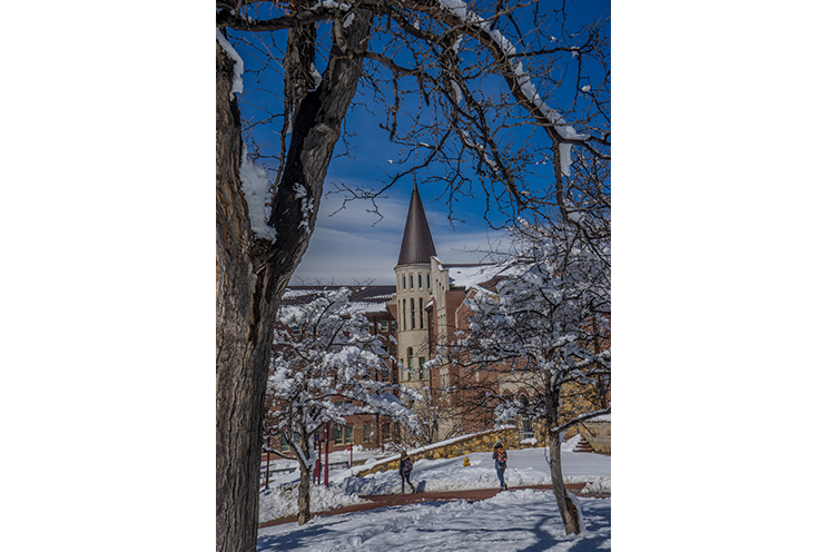 University of Denver campus in the winter